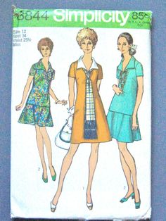 UNCUT 70s Simplicity 8844 Sewing Pattern by Fancywork on Etsy
