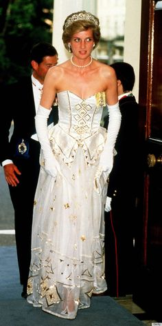 """""""Diaghilev"""" gown designed by David and Elizabeth Emanuel, which went up for auction at the Kerry Taylor Auction House in London today. The l..."""