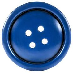 Blue Round Button Wall Plaque
