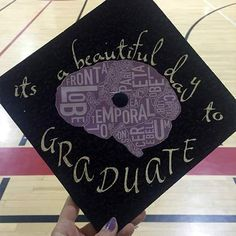 """Shonda Rhimes Grey's Anatomy inspired graduation cap decorations with famous quotes like: """"It's a beautiful day to save lives. High School Graduation, Graduate School, Graduation Caps, Graduation Ideas, Graduation Cap Designs, Graduation Cap Decoration, Funny Grad Cap Ideas, Abi Motto, Cap Decorations"""
