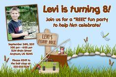 Fishing Pole Custom Photo Birthday Invitation by lemontreeparties, $15.00
