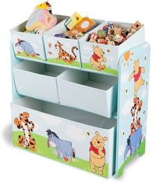 Winnie the Pooh Childrens Kids Baby Nursery Toy Clothes Organiser Storage new Kids Storage Units, Toy Storage Boxes, Toy Boxes, Bin Storage, Winnie The Pooh Nursery, Bear Nursery, Disney Winnie The Pooh, Disney Baby Nurseries, Baby Boy Nurseries