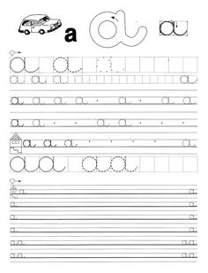 Tracing Worksheets, Preschool Worksheets, Preschool Activities, Free Worksheets, Cursive Letters, Home Learning, Teaching Tips, Special Education, Album