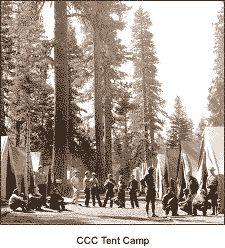 1934 Civilian Conservation Corps (CCCs) tent camp