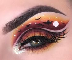 Makeup Eye Looks, Eye Makeup Art, Cute Makeup, Eyeshadow Makeup, Eyeliner, Makeup Eyes, Eye Art, Beauty Makeup, Cute Halloween Makeup