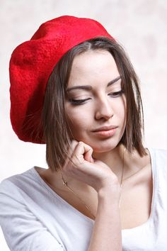 gorgeous red beret by jezek on etsy!