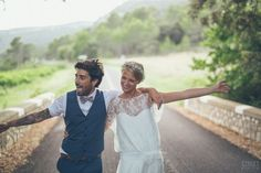 A french boho wedding with the bride wearing Rime Arodaky and Zara with bridesmaids in Topshop and gypsophila wedding flowers. Bohemian Chic Weddings, Bohemian Bride, Boho Chic, Wedding Men, Wedding Suits, Boho Wedding, Green Wedding Suit, Wedding Vows Examples, Wedding Ideas