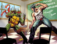 Anger Management with Raph & Wolverine XD - Google Search