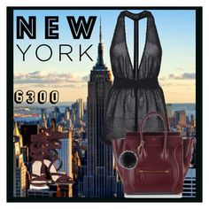 """""""New York"""" by amymorgan1999 ❤ liked on Polyvore featuring Barneys New York, Topshop and Helen Moore"""