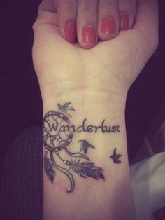 Wrist Wanderlust Tattoos for Girls