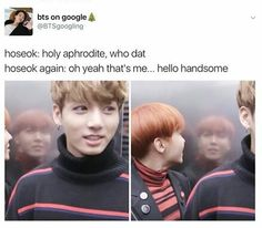 Jhope looks good, but look at Jungkook