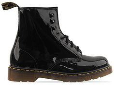 Dr. Martens Black Patent 8 Eye Boots.