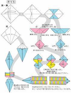 折り紙のクネクネヘビ - おもちゃおじさん