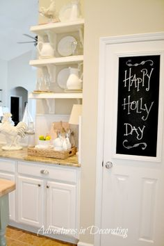 chalk frame on pantry door... idea for laundry room