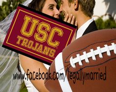 USC Groom hires Southern California wedding officiator to write USC funny Wedding Vows! The Clergy Network & LegallyMarried....www.facebook.com/legallymarried