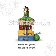 """Stamping Bella Cling Stamp 6.5""""X4.5""""-Uptown Girl Molly Makes - uptown girl molly makes a detour"""