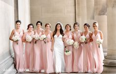 Pink bridesmaid dresses | Pnina Tornai | St. Pauls Cathedral | Pennsylvanian | Pittsburgh Wedding Photographers | Aaron Varga Photography