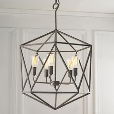 """For the office: 35""""Hx21.5""""W Large Prism Chandelier"""