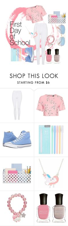 """1st day of school, comfy outfit"" by andrealorena-7879 ❤ liked on Polyvore featuring Topshop, Converse, Deborah Lippmann and Ray-Ban"