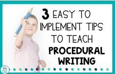 3 Easy to Implement Tips to Teach Procedural Writing Writing Lesson Plans, Writing Lessons, Writing Skills, Writing Tips, Student Teaching, Teaching Tools, Temporal Words, 5th Grade Writing, Writing Genres
