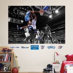 Kevin Durant Dunk Mural~ Bought for boys room!
