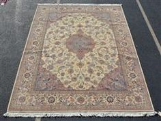 "Kirman rug, 9' X 12'6"" Available in our December 13th Catalog   #rugs #rug #runners #kirmanrug"