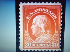 CRAZY AUCTION-1917 #516 30 CENT BENJAMIN -UNUSED, NH-HIGH PRICE STAMP