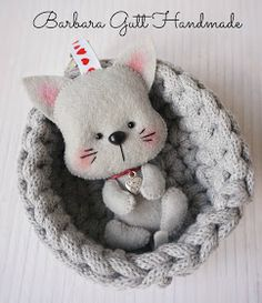 Barbara Handmade...: Koteczek / Little kitty
