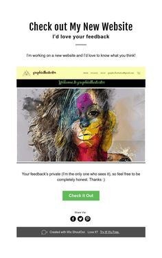 Check out My New Website I'd love your feedback