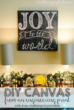 Use Chalkboard with Christmas Inspired Quote