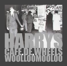 HARRYS | alan innes | 2011. Graphic art for a tee shirt. Photo of a photo on display at Harry's Cafe De Wheels in Woolloomooloo, Sydney AU. The original photo is from the fifties or early sixties.