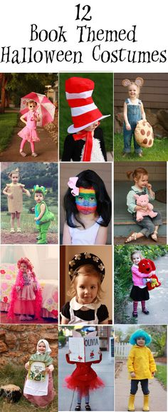 12 Book Themed Halloween Costumes!  One mom dressing up her 3 year old like different book characters
