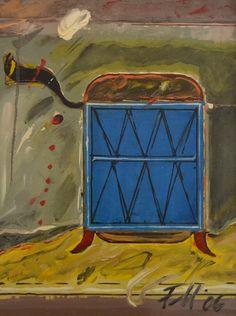 Container albastru – Florin Menzopol – 1799 lei   EliteArtGallery - galerie de artă