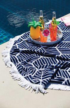 Sunnylife Round Reversible Beach Towel $99   Nordstrom