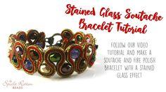 Stained Glass Soutache Bracelet Tutorial