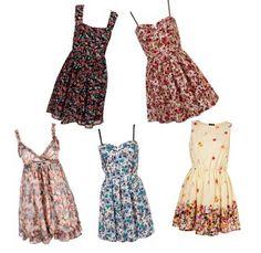 Vestidos florais e fofos
