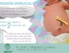 El cordón umbilical del bebé es muy delicado y requiere un aseo especial