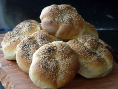 """Homemade Kaiser Rolls. """"..These rolls/buns are very easy to make. So easy that when I decided late yesterday afternoon to bake a batch they were out of the oven in time for dinner."""" from Thibeault's Table"""