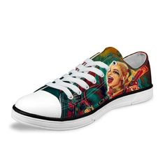 Want this Harley Quinn Suicide Squad Canvas Low Top Shoes?  Get it today for a limited time. Go to Fan Faire and see our great selection!