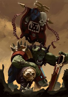 Codex orks by raymond swanland this concludes the 7th edition art khorne sturmboy ork by vicente sivera catala fandeluxe Gallery
