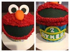 Elmo Smash Cake  Large Cupcake www.sweetlolacakepops.com