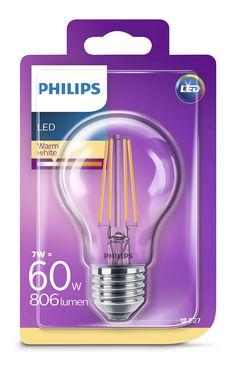 Philips LED /светодиодна/ лампа classic 60W A60 E27 WW CL ND SRT4 871869674241900