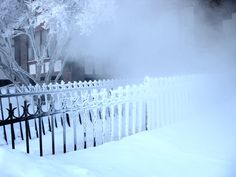 When you live in Manitboa you learn to enjoy the beauty of ice and cold and here is a Beautifully frosted fence taken in February to show you what I mean