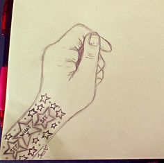 """Drawing Of Tristan Blaine's """"See What I See"""" Song Title In A Form Of A Tattoo."""