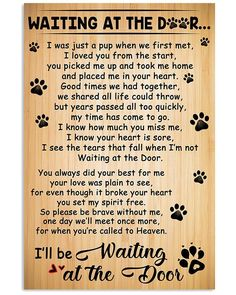 Dog Lover Gifts, Dog Gifts, Pepsi, Dog Lover Quotes, Nana Quotes, Puppy Quotes, Gift Quotes, Pet Loss Grief, Dog Poems