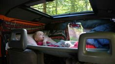 Toddler hammock camper for the driver's cab
