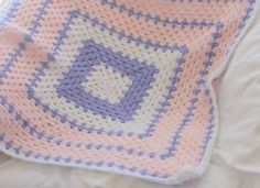 Crochet baby blanket baby afghan granny by ChocolateDogStudio