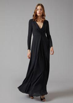 2e8e184d5 8 mejores imágenes de Vestido largo de seda en 2019