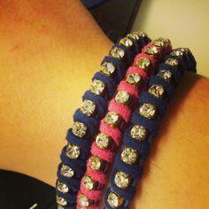 Suede with strass Friendship Bracelets, Jewelry, Rhinestones, Jewlery, Bijoux, Schmuck, Jewerly, Jewels, Jewelery
