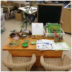 """create stations throughout the classroom that invite students to come sit down, explore, interact, and manipulate materials and learning will take place without any need for direct instruction. This is how the environment becomes the third teacher."""" Well said!"""